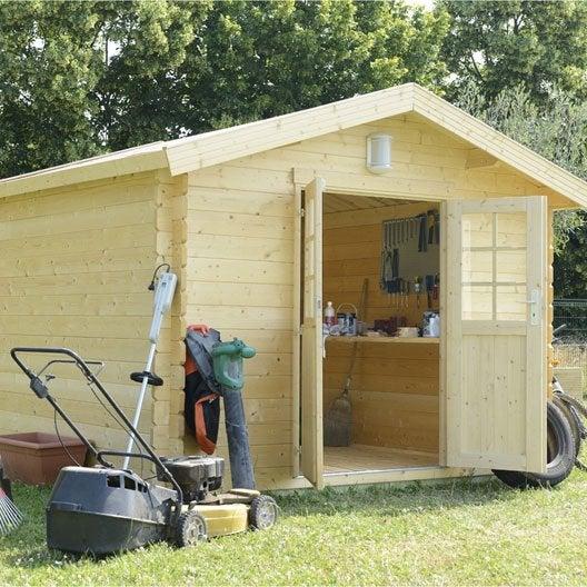 abri de jardin bois ismo, 7.12 m² ep.34 mm | leroy merlin