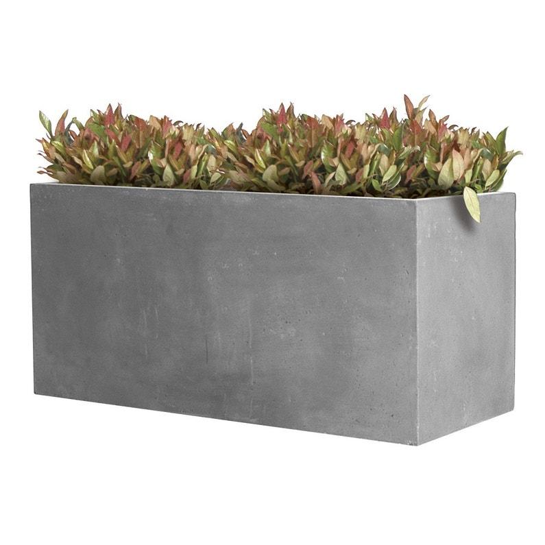 Jardiniere Fibre L  X L  X H  Cm Gris