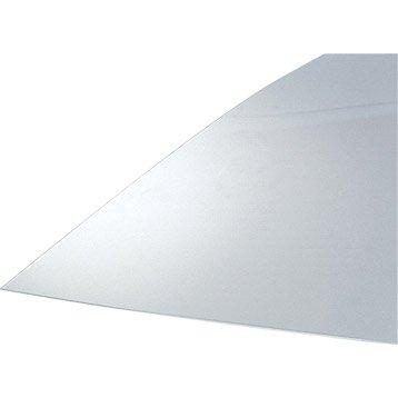 Plaque polystyrène transparent lisse, L.70 x l.50 cm x Ep.1.2 mm