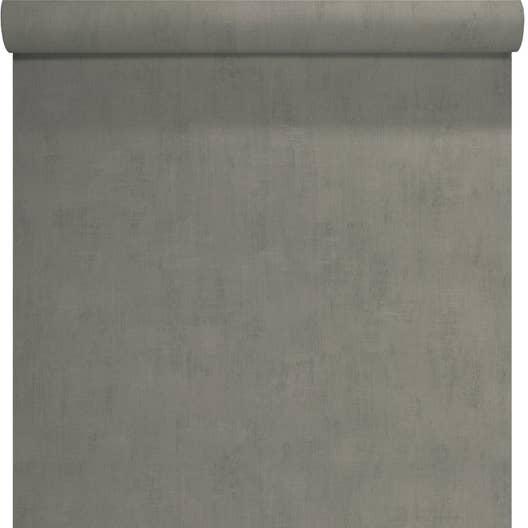 Papier peint intissé Uni béton gris foncé | Leroy Merlin