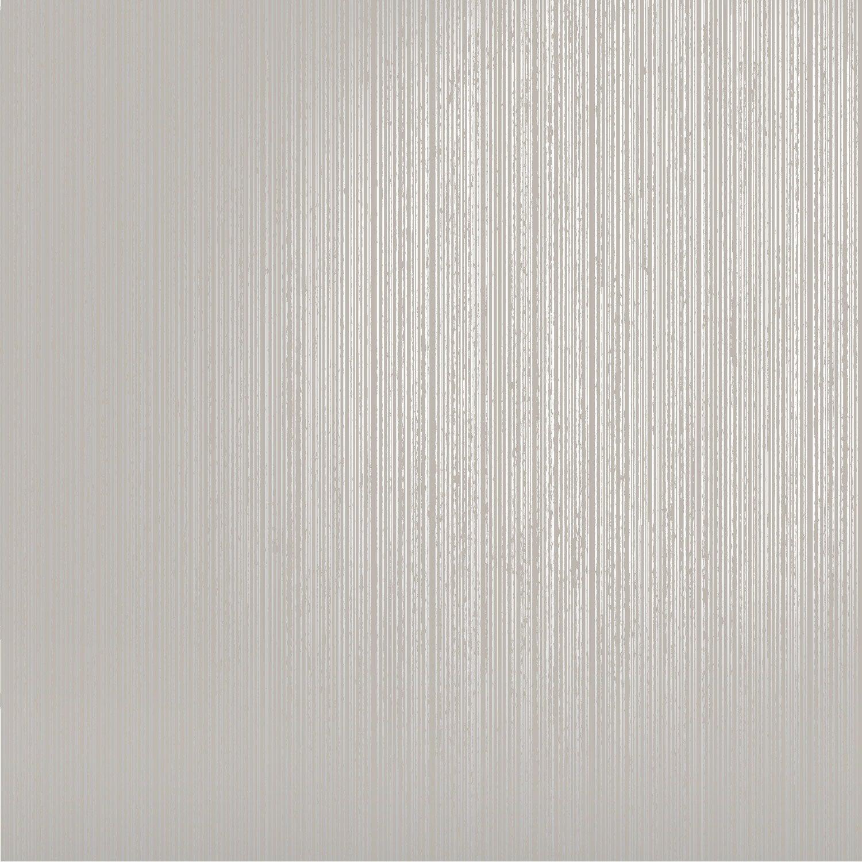 Papier peint Uni ligne argent, gris clair | Leroy Merlin