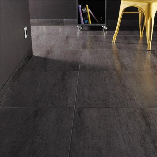 carrelage sol et mur noir effet b ton eiffel x. Black Bedroom Furniture Sets. Home Design Ideas