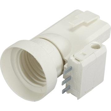 Fiche Dcl Et Douille électrique E27 à Vis Plastique Blanc