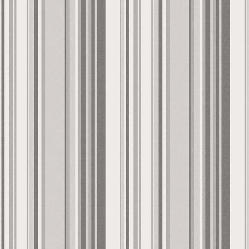 Papier peint intissé Rayures gris