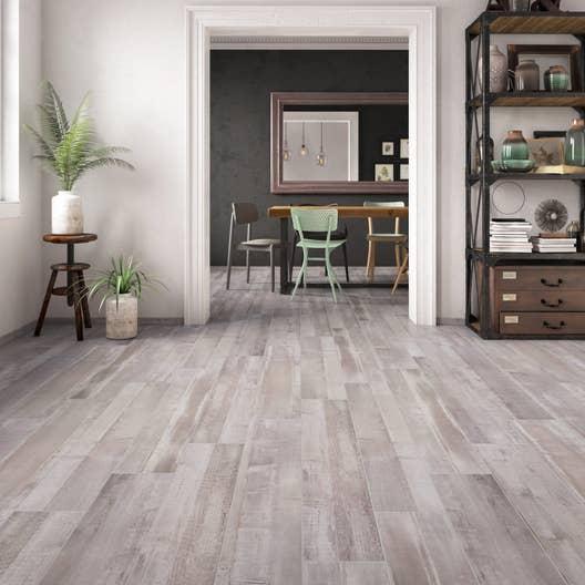 carrelage sol et mur blanc effet bois pintura x cm leroy merlin. Black Bedroom Furniture Sets. Home Design Ideas