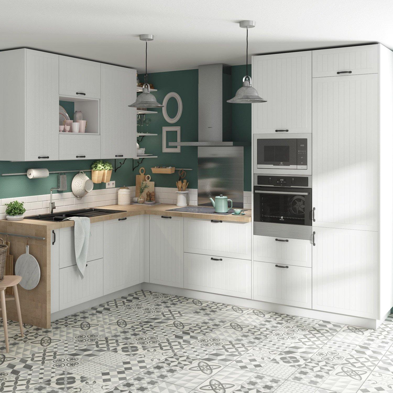Meuble de cuisine toscane blanc delinia id leroy merlin - Meuble cuisine leroy merlin delinia ...