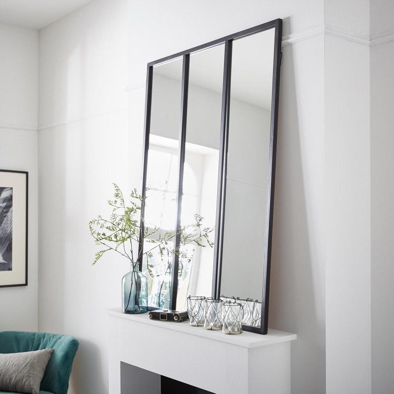 Miroir Rectangulaire Atelier Noir L85 X H115 Cm