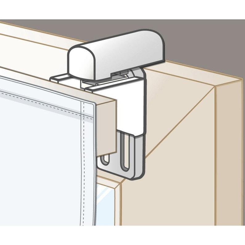 lot de 2 supports de fixation sans per age blanc pour tout. Black Bedroom Furniture Sets. Home Design Ideas