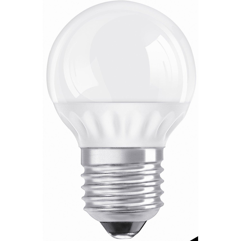 ampoule sph rique led 3 5w 250lm quiv 20w e27 2700k osram leroy merlin. Black Bedroom Furniture Sets. Home Design Ideas