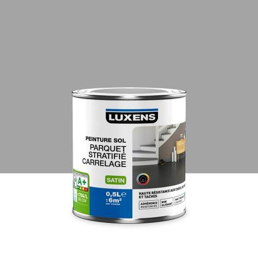 Peinture sol intérieur Haute résistance LUXENS, gris galet n°3, 0.5 ...