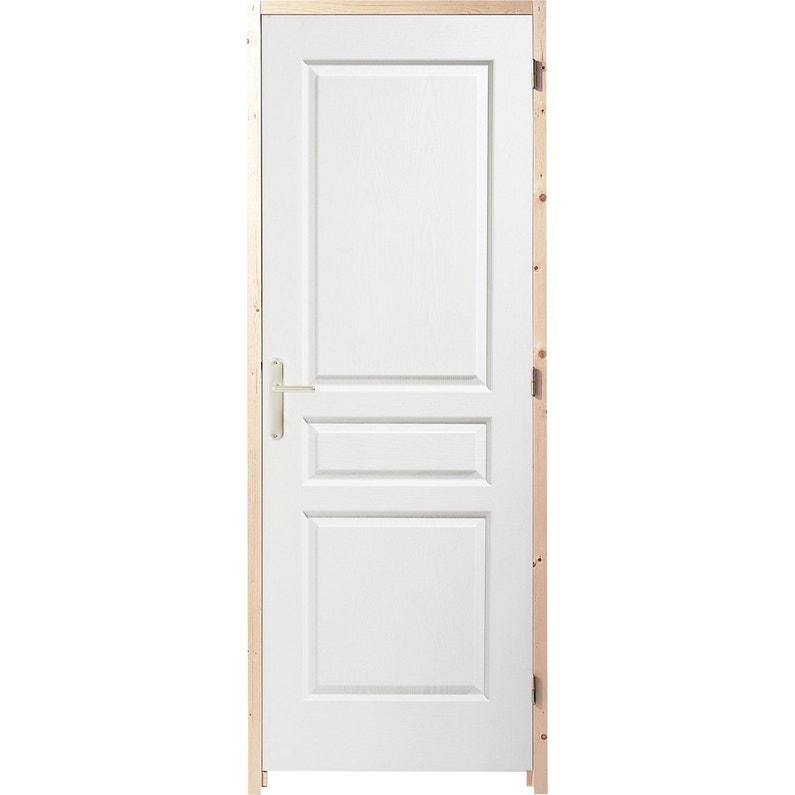 Bloc porte postform x cm poussant droit leroy merlin - Porte d interieur sur mesure ...