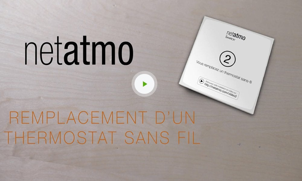 thermostat connect netatmo by starck leroy merlin. Black Bedroom Furniture Sets. Home Design Ideas