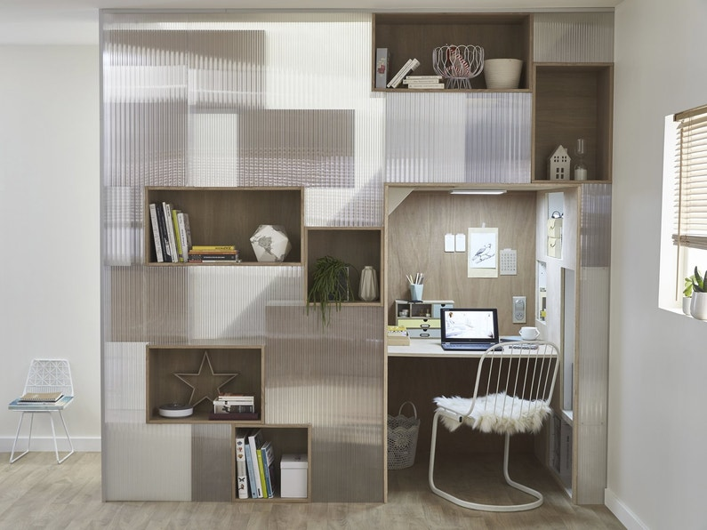 une combinaison de caissons pour organiser son bureau leroy merlin. Black Bedroom Furniture Sets. Home Design Ideas