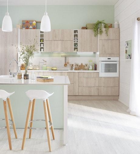 Des couleurs pastelles pour la cuisine de style scandinave