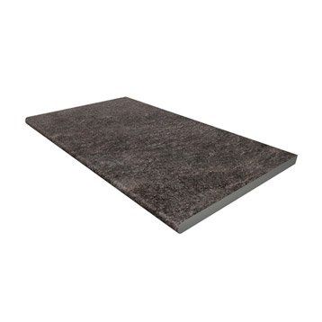 Margelle Siena en grès cérame gris foncé, L.60 x l.33 x Ep.2 cm