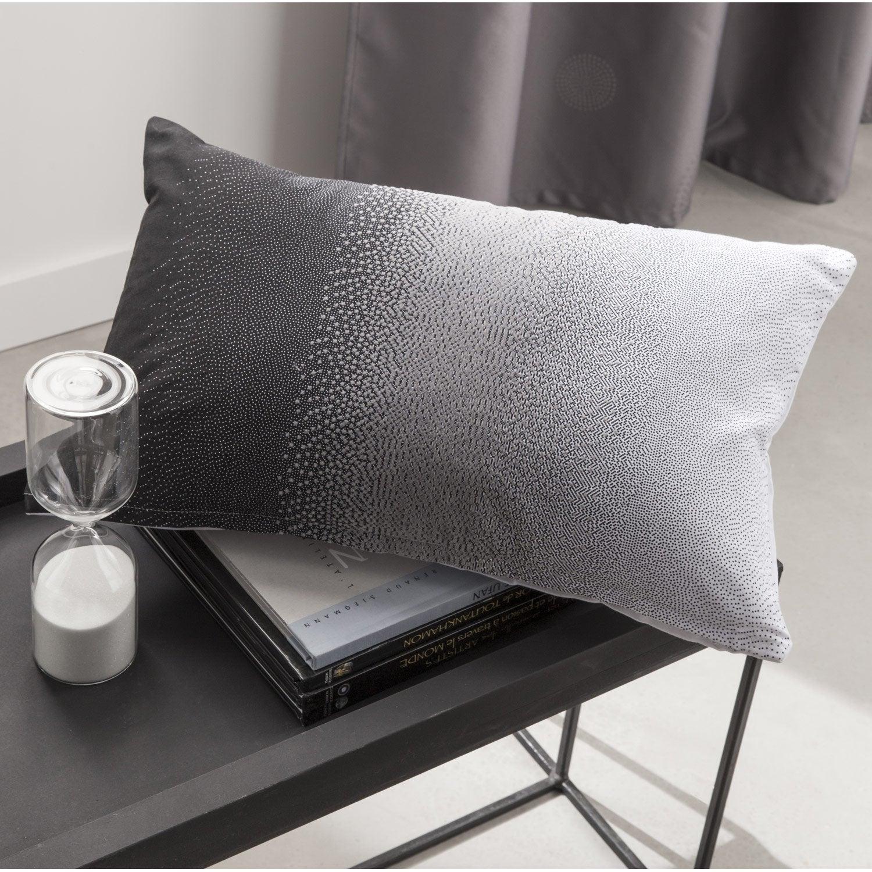 Coussin Strass INSPIRE, noir/gris/blanc l.30 x H.50 cm