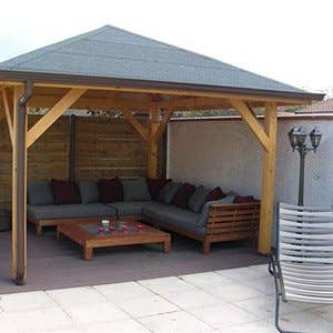 Parasol tonnelle pergola voile d 39 ombrage leroy merlin - Leroy merlin chambray ...