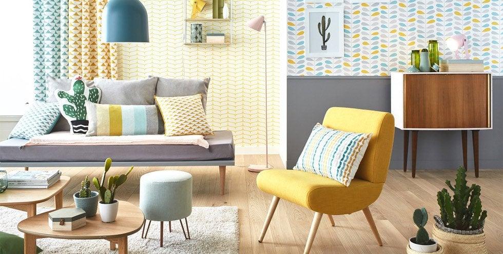 Papier peint frise et fibre de verre tapisserie d coration murale leroy merlin - Rideaux imprimes scandinaves ...