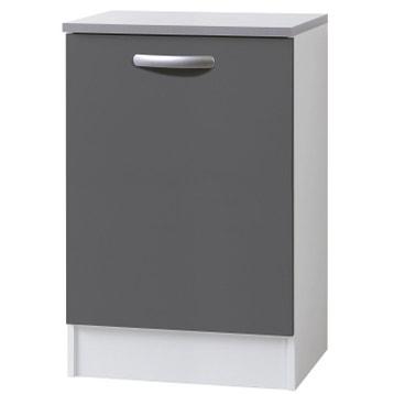 Meuble de cuisine bas 1 porte gris ombré h 86 x l 60 x p