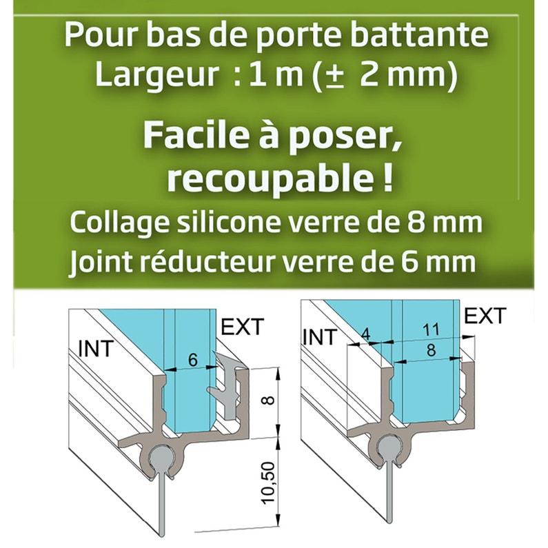 Joint Détanchéité Rejet Deau H18 Cm Inox Brossé Joint De Douche