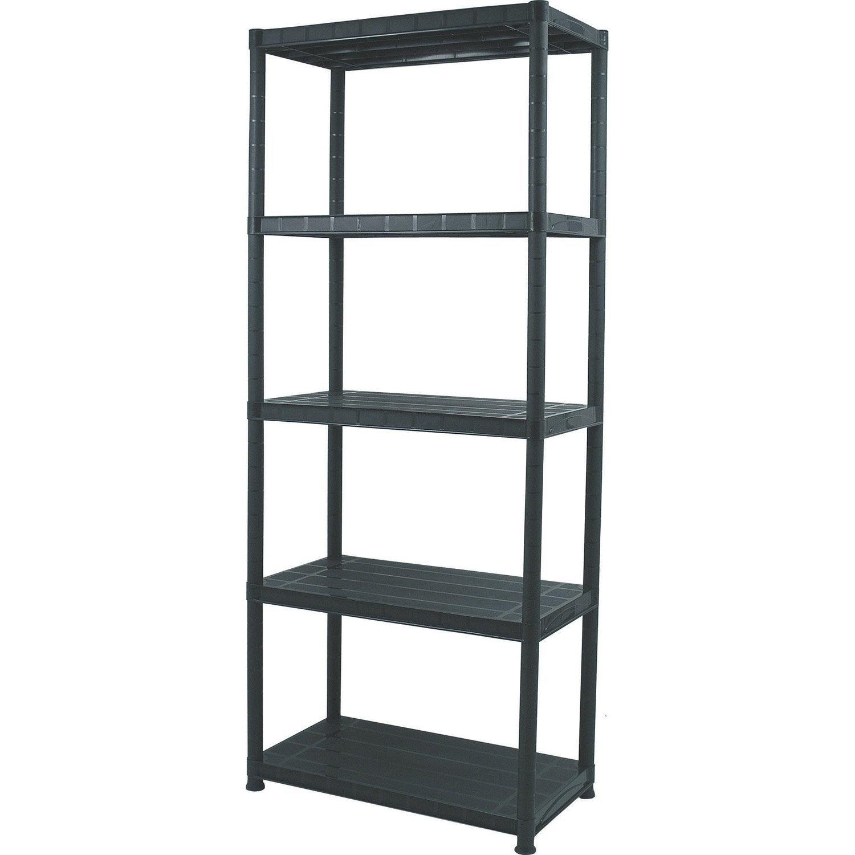 etag re r sine 5 tablettes noir l71xh170xp38 cm leroy merlin. Black Bedroom Furniture Sets. Home Design Ideas