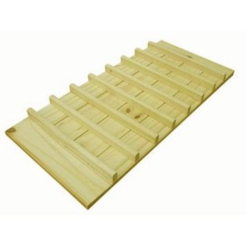 Tablette range-bouteilles pin Spacea, l82xH1.8xP37.5 cm d814e13eb8a7