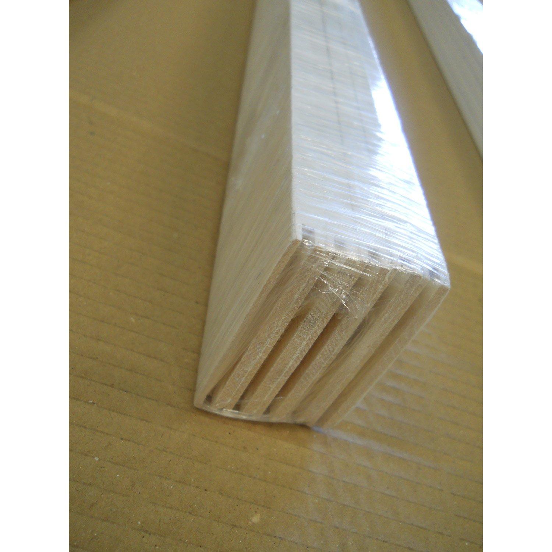 plinthe sapin peint droite blanc 68 x 9 mm x m leroy merlin. Black Bedroom Furniture Sets. Home Design Ideas