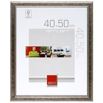 Cadre Gaïa, 40 x 50 cm, argent