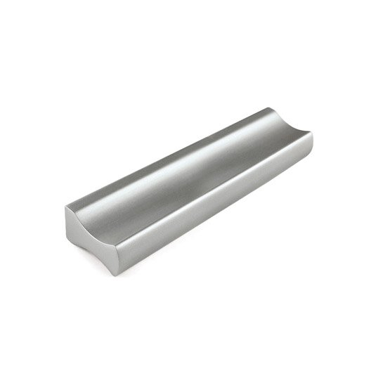 poign e de meuble profil aluminium anodis entraxe 96 mm leroy merlin. Black Bedroom Furniture Sets. Home Design Ideas