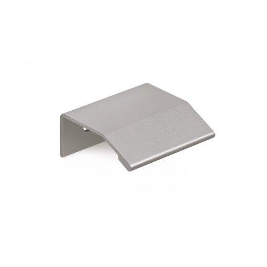 poign e de meuble profil aluminium anodis entraxe 64 mm leroy merlin. Black Bedroom Furniture Sets. Home Design Ideas
