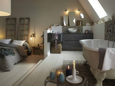 tout savoir sur la salle de bains ouverte sur la chambre | leroy ... - Salle De Bain Ouverte Dans Chambre