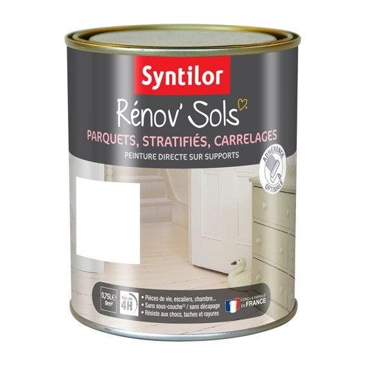 peinture sol intérieur renov'sol syntilor, blanc, 0.75 l | leroy