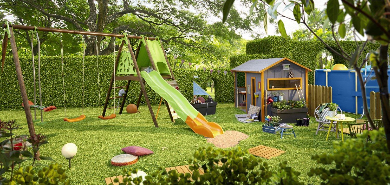 Un jardin aménagé pour les enfants | Leroy Merlin