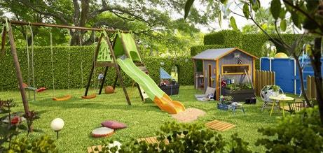 Un jardin aménagé pour les enfants