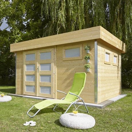Un abri de jardin moderne