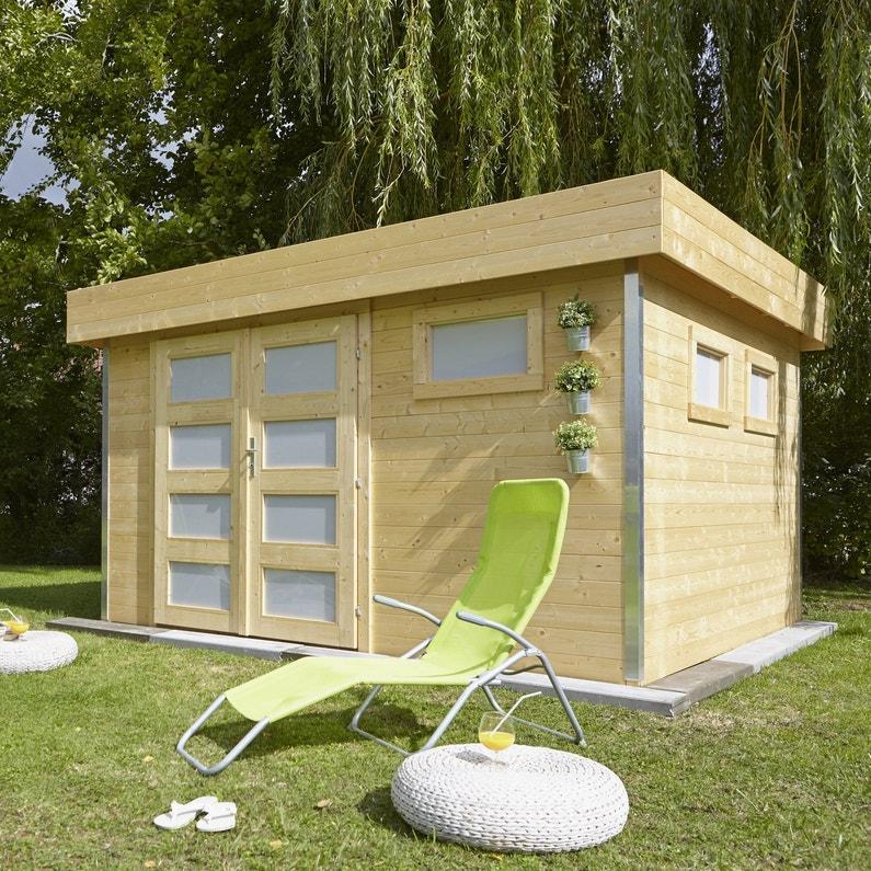 un abri de jardin moderne leroy merlin. Black Bedroom Furniture Sets. Home Design Ideas