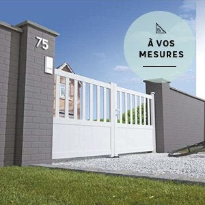 Portail coulissant et battant portail bois alu leroy for Dimension portillon