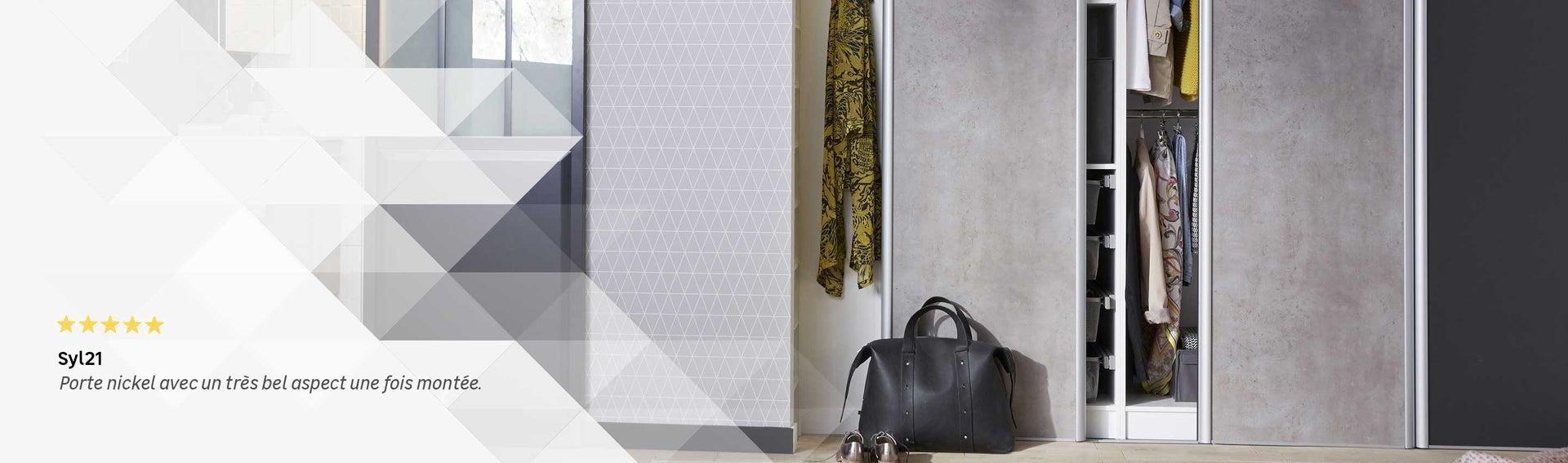 porte de placard et cloison standard et personnalisable leroy merlin. Black Bedroom Furniture Sets. Home Design Ideas