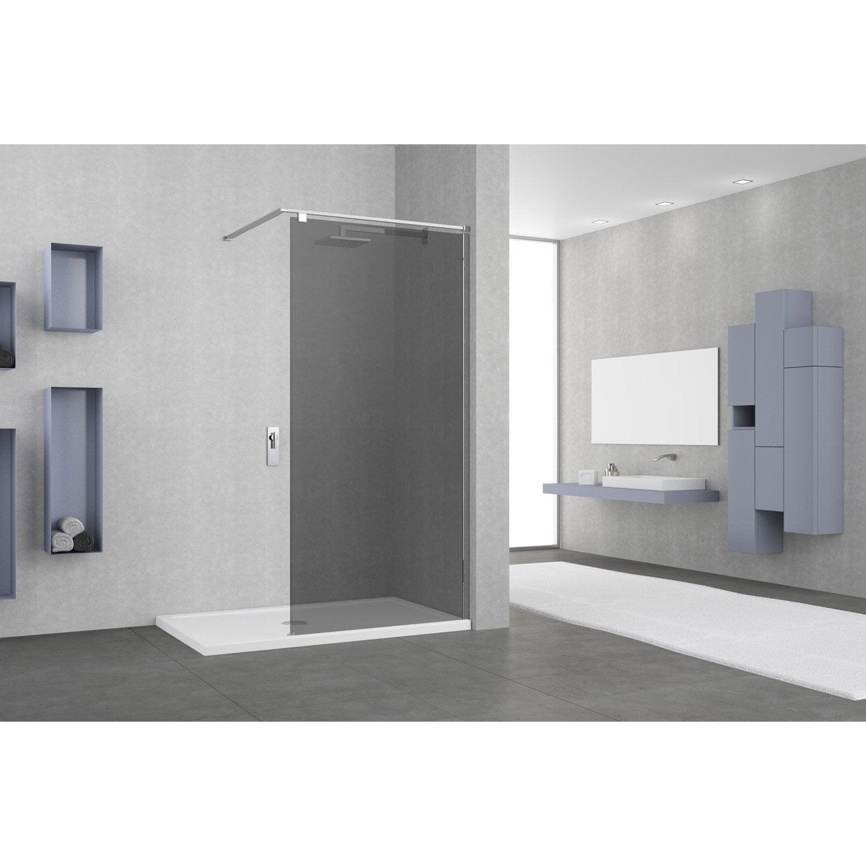paroi de douche l 39 italienne cm verre fum 8 mm. Black Bedroom Furniture Sets. Home Design Ideas