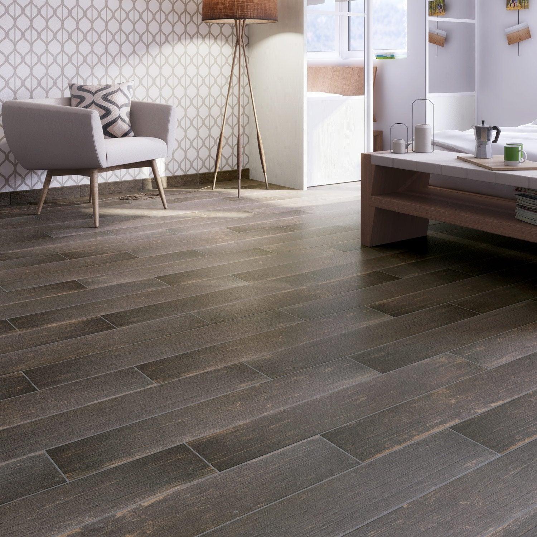 carrelage sol et mur wenge effet bois cabane x cm leroy merlin. Black Bedroom Furniture Sets. Home Design Ideas