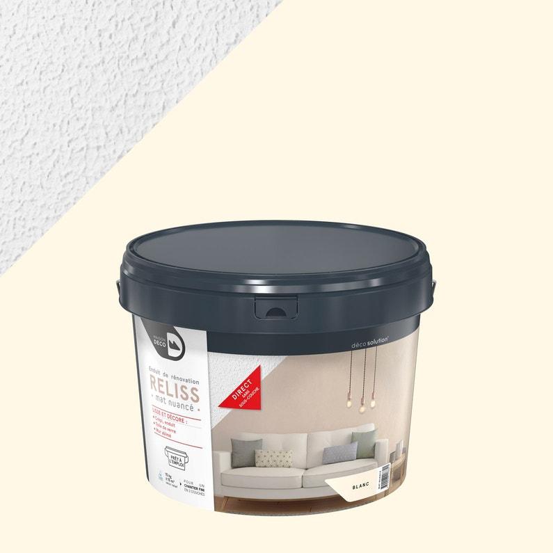 Enduit Décoratif Reliss 2 En 1 Maison Deco Blanc 15 Kg