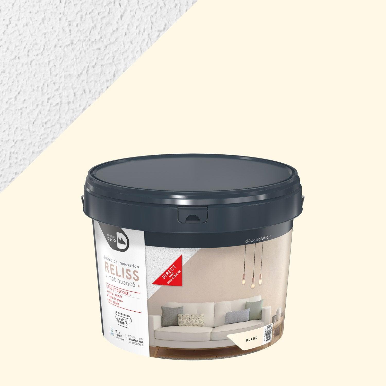 Enduit Décoratif, Reliss 2 En 1 MAISON DECO, Blanc, 15 Kg ...