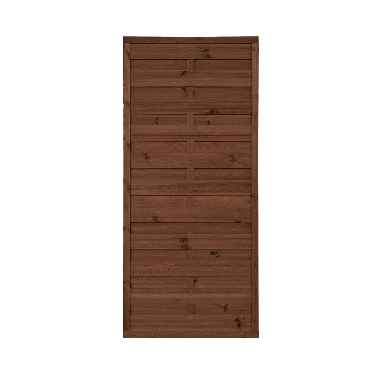 panneau bois occultant anna x cm marron leroy merlin. Black Bedroom Furniture Sets. Home Design Ideas