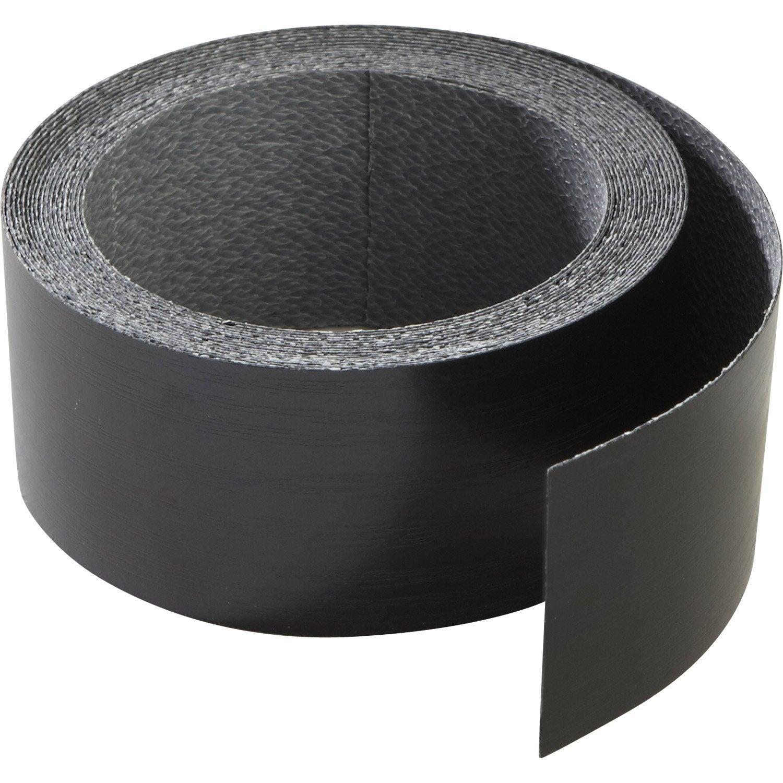 chant de plan de travail stratifi effet m tal noir mat l 4 5 cm ep leroy merlin. Black Bedroom Furniture Sets. Home Design Ideas