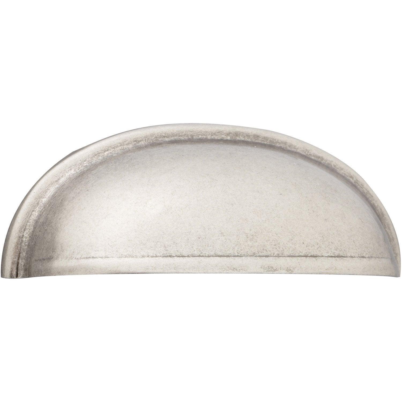 Poignée de meuble Boucle cuir mat, entraxe 96 mm - Poignée de meuble 77a2b350b0d