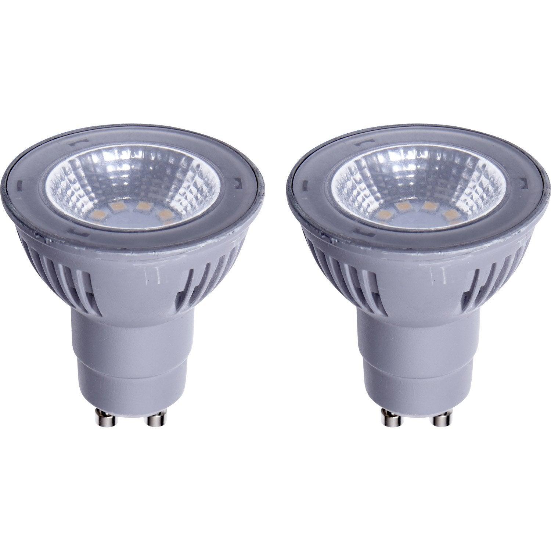 Lot De 2 Ampoules R Flecteurs Led 5w 450lm Quiv 50w Gu10 2700k