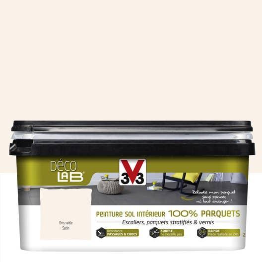 peinture sol int rieur decolab sol 100 parquet v33 gris sable 2 5 l leroy merlin. Black Bedroom Furniture Sets. Home Design Ideas