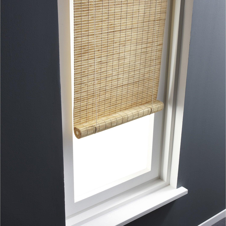 store enrouleur tamisant bois tiss naturel clair 90x180 cm leroy merlin. Black Bedroom Furniture Sets. Home Design Ideas