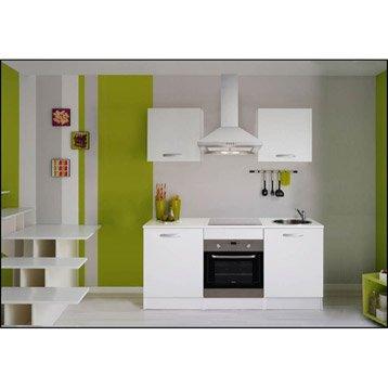 Meuble de cuisine 1er prix spring meuble haut bas et sous evier leroy me - Meuble de cuisine blanc ...