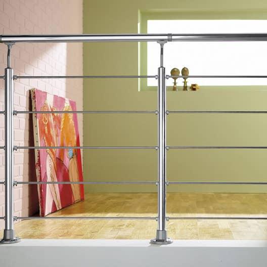 kit garde corps obapi en aluminium permet de cr er 2 m de balustrade leroy merlin. Black Bedroom Furniture Sets. Home Design Ideas